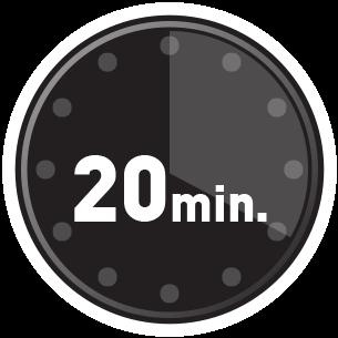 Fiksert på 20 minutter
