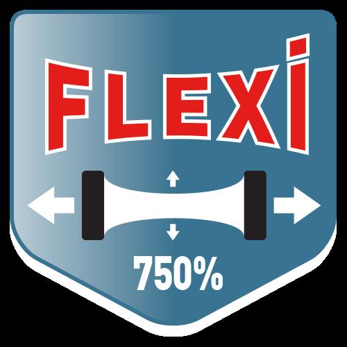 Super flexibel,  även på våta ytor